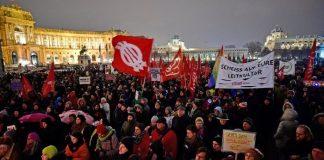Протесты в Венгрии