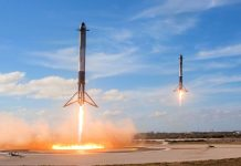 Посадка ступеней Falcon Heavy