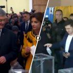 Порошенко и Зеленский проголосовали